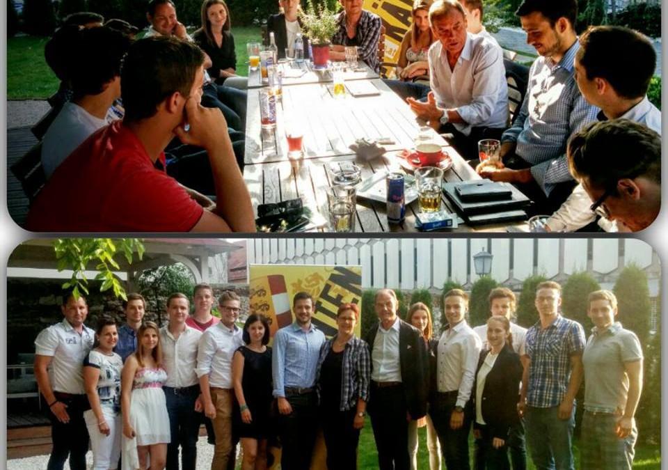 Jung, frisch, europäisch: JVP goes Europa-Cafe