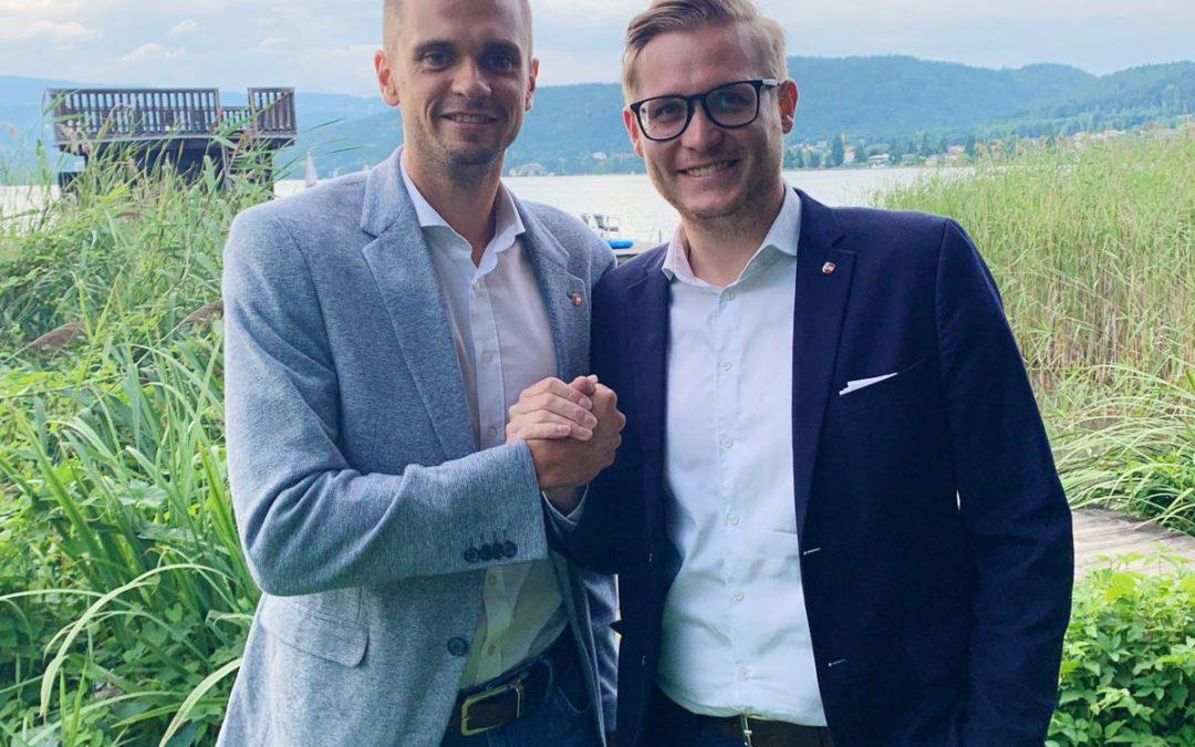 Stefan Michor einstimmig zum neuen Bezirksobmann in Klagenfurt Land gewählt.